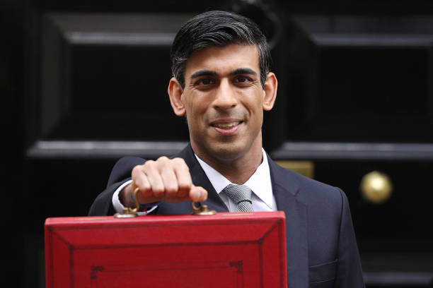 Rishi Sunak Chancellor of the Exchequer departs to deliver the annual Budget at Downing Street on March 11 2020 in London England The government is...
