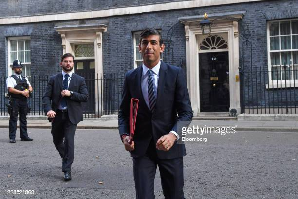 Rishi Sunak, U.K. Chancellor of the exchequer, arrives for a meeting of cabinet ministers in London, U.K., on Tuesday, Sept. 15, 2020. U.K. Prime...