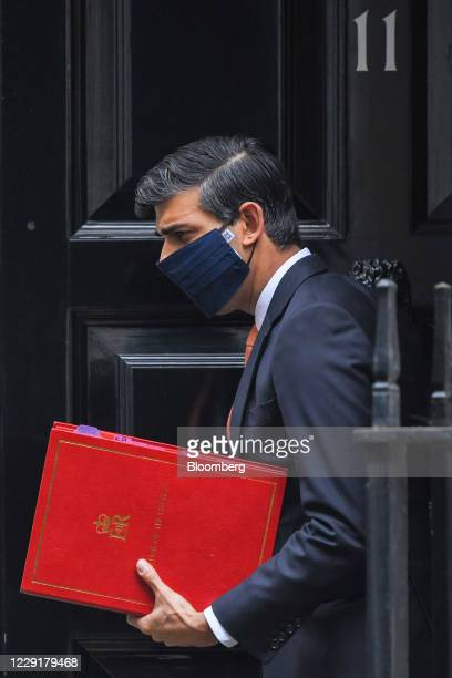 Rishi Sunak UK chancellor of the exchequer departs from number 11 Downing Street in London UK on Tuesday Oct 20 2020 The UK rebuffed the European...