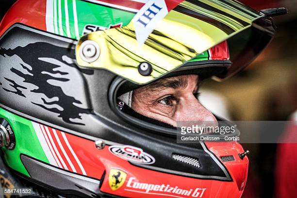 Risi Competizione #82 Ferrari 488 GTE Driver Giancarlo Fisichella during the 84th running of the Le Mans 24 Hours on June 18 2016 in Le Mans France