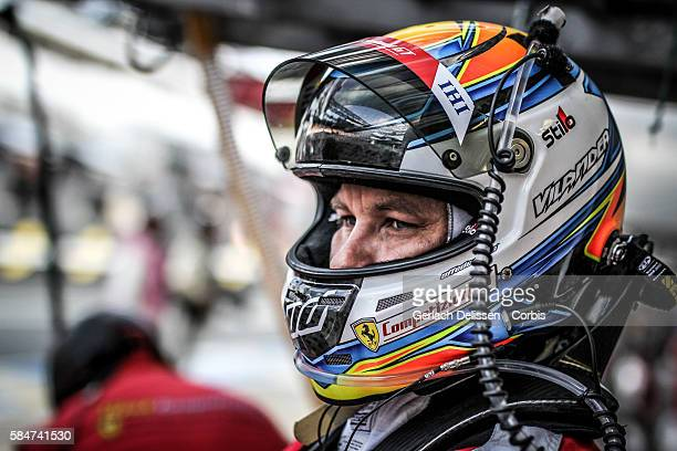 Risi Competizione #82 Ferrari 488 GTE Driver Toni Vilander during the 84th running of the Le Mans 24 Hours on June 18 2016 in Le Mans France