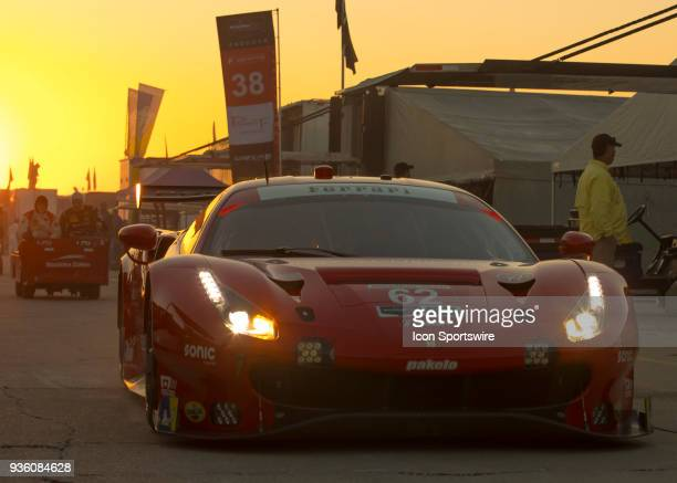 Risi Competizione Drivers Alessandro Pier Guidi Toni Vilander James Calado during 12 hours of Seabring Race on March 17 2018 at Sebring International...