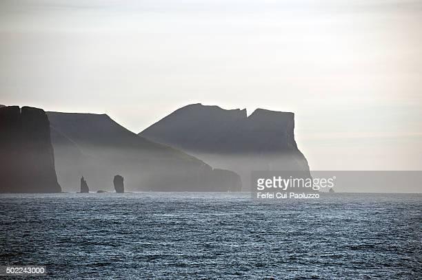 Risin and Kellingin sea stacks Eysturoy of Faroe Islands