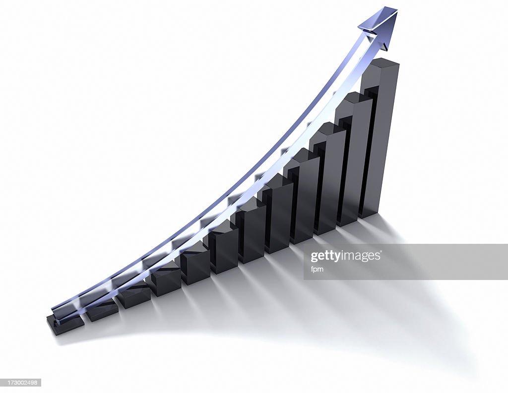 Rising Graph : Stock Photo
