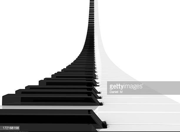 Renderizado teclado de piano creciente