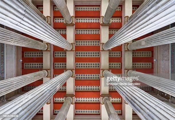 rising pillars - christian beirle stockfoto's en -beelden