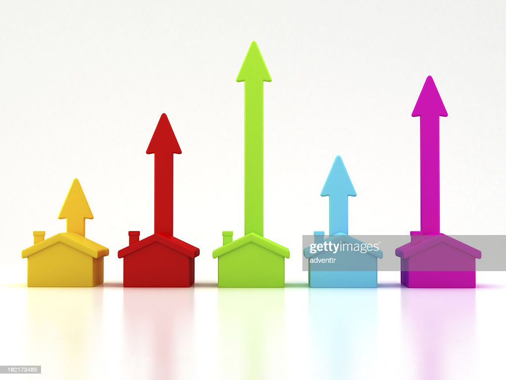 Rising real estate trends : Stock Photo