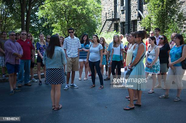 Rising senior Jaime Morgan gave prospective students and their families a tour of the Tufts University Campus in Medford Tufts University spent years...