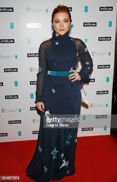 Rising Star Award nominee Florence Pugh attends the InStyle EE Rising Star Party at Granary Square on February 6 2018 in London England