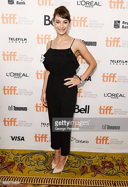 Rising Star Sophie Desmarais wearing a JaegerLeCoultre RendezVous Night Day timepiece at The 2014 Toronto International Film Festival Canadian Press...