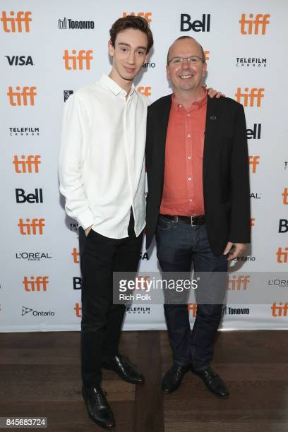 Rising Star Theodore Pellerin and founder and CEO of IMDb Col Needham attend The 2017 Rising Stars Power Break Lunch At The 2017 Toronto...