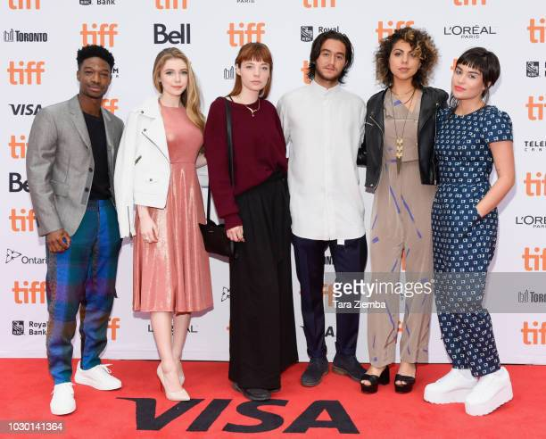 TIFF Rising Stars 2018 Lamar Johnson Eleanor WorthingtonCox Michaela Kurimsky Ahmed Malek Jess Salguerio and Devery Jacobs attend the 'If Beale...