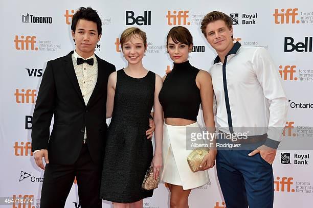 2014 TIFF Rising Stars Shannon Kook Julia Sarah Stone Sophie Desmarais and Alexandre Landry attend The Drop premiere during the 2014 Toronto...
