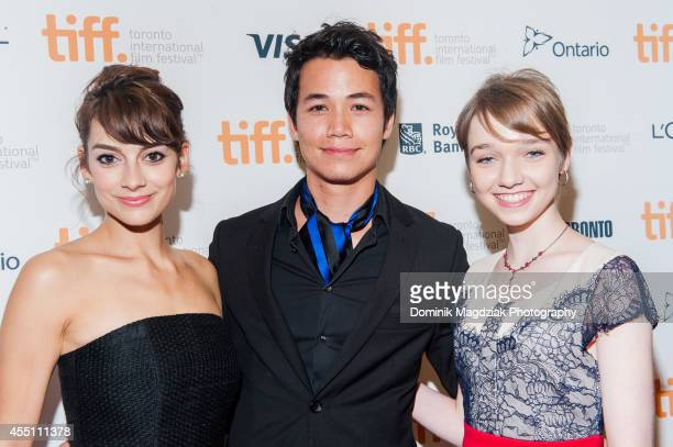 Rising stars Sophie Desmarais Shannon Kook and Julia Sarah Stone attend the Mommy premiere during the Toronto International Film Festival at Princess...