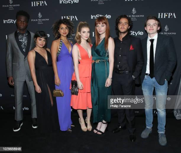 TIFF Rising Stars Stéphane Bak Devery Jacobs Jess Salguerio Eleanor WorthingtonCox Michaela Kurimsky Ahmed Malek and Josh Wiggins attend The...