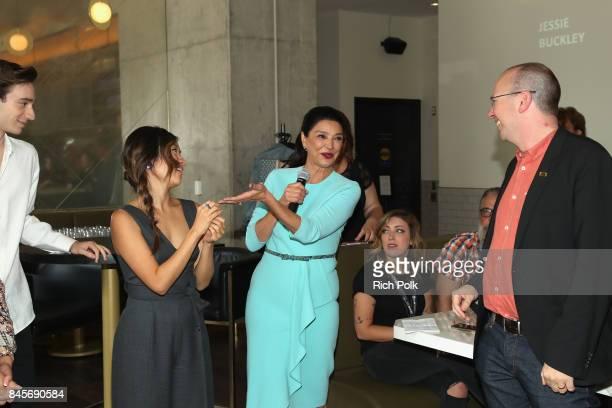 Rising Stars Theodore Pellerin Ellen Wong Rising Stars ambassador Shohreh Aghdashloo and founder and CEO of IMDb Col Needham attend The 2017 Rising...
