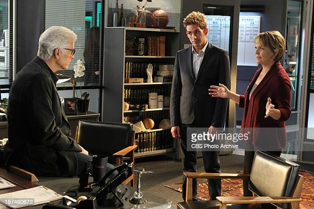 "Risky Business Class"" -- D.B. Russell and Greg Sanders watch as Donna Hoppe does some explaining, on CSI: CRIME SCENE INVESTIGATION, Wednesday, Dec...."