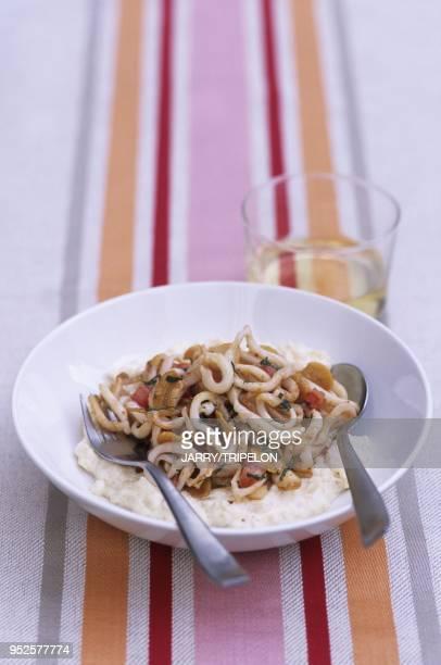 risotto aux chipirons Pays Basque departement PyreneesAtlantique region Aquitaine France calamary risotto Pays Basque PyreneesAtlantique Aquitaine...