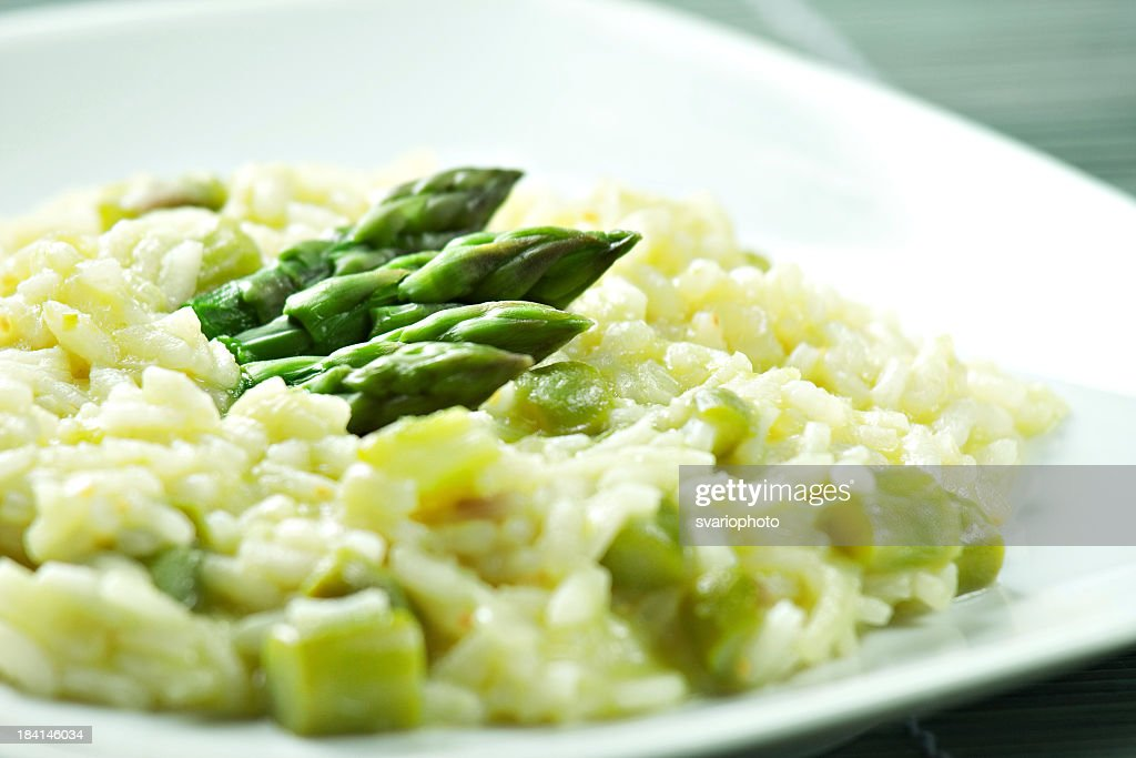 Risotto with Asparagus : Stock Photo