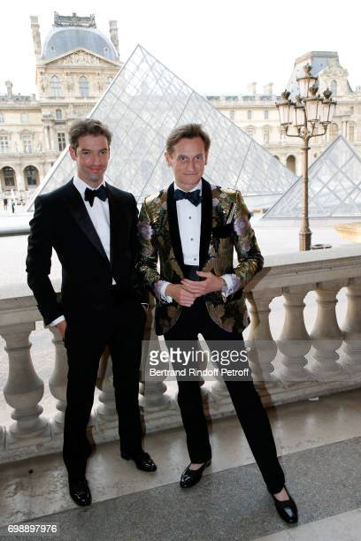 Risteard Keating and journalist Hamish Bowles attend the 'Liaisons au Louvre IV' Evening of patronage for the benefit of the Louvre Museum at Musee...