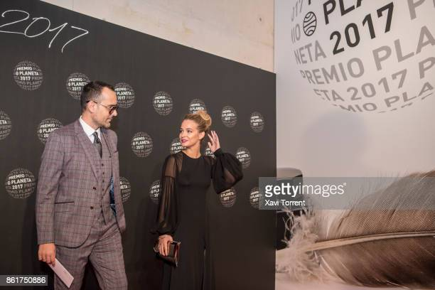Risto Mejide and Laura Escanes attend the 2017 Premio Planeta award on October 15 2017 in Barcelona Spain