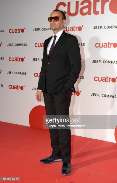 Risto Mejide attends the presentation of new season of Cuatro TV Channel on September 21 2017 in Madrid Spain