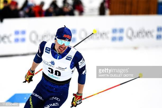 Ristomatti Hakola of Findland races during the FIS Qualification Sprint on March 22 during the first day of the FIS crosscountry World Cup Finals in...