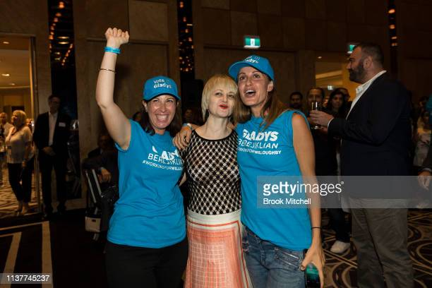 Rita Berejiklian celebrates her sister Gladys win in the NSW State Election on March 23 2019 in Sydney Australia The 2019 New South Wales state...