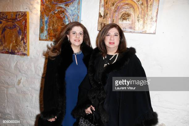 Rita Boustany and Reem Boustany attend the 'My Fashionable Venice' Book Signing by Paola Buratto Caovilla as part of the Paris Fashion Week...