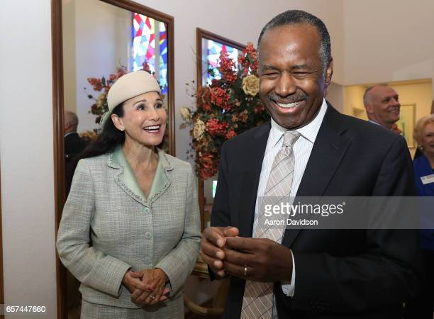 Rita Case and Ben Carson attend An Afternoon With Habitat for Humanity and Secretary Ben Carson on March 24 2017 in Pompano Beach Florida