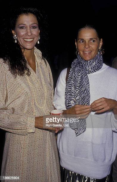 Rita Coolidge and Ali MacGraw attend Crossroads School Benefit on May 9 1987 at the Wadsworth Theater at UCLA Campus in Westwood California