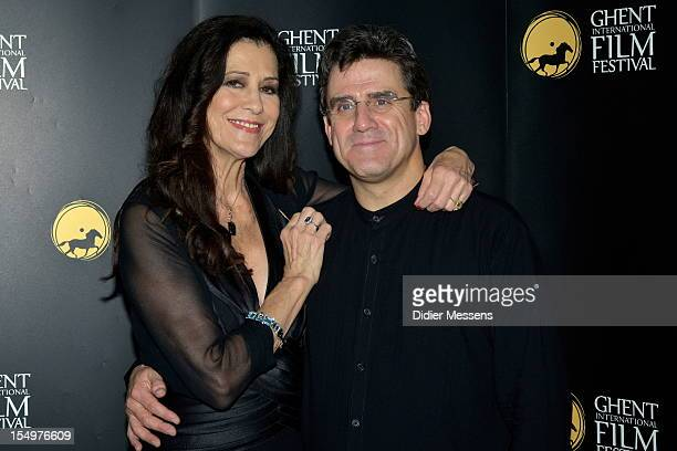 Rita Coolidge and Dirk Brosse pose for a picture at 007 in Concert as part of the Ghent Filmfestival on October 18 2012 in Ghent Belgium