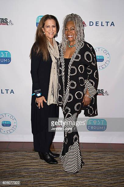 Rita Coolidge and Mary Wilson attend FestForums at The Fess Parker A Doubletree by Hilton Resort on November 21 2016 in Santa Barbara California