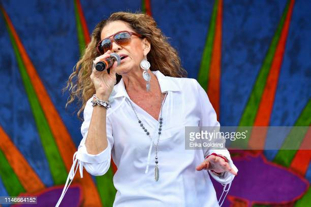 Rita Coolidge performs during the 2019 New Orleans Jazz Heritage Festival 50th Anniversary at Fair Grounds Race Course on May 02 2019 in New Orleans...