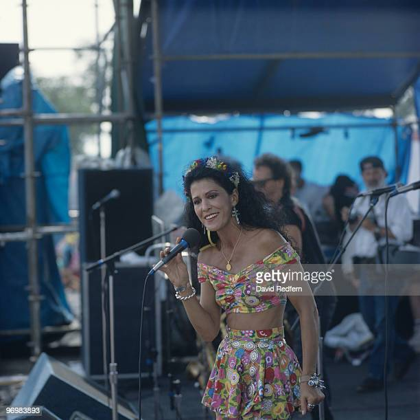 Rita Coolidge performs on stage at the New Orleans Jazz and Heritage Festival in New Orleans Louisiana on April 29 1989