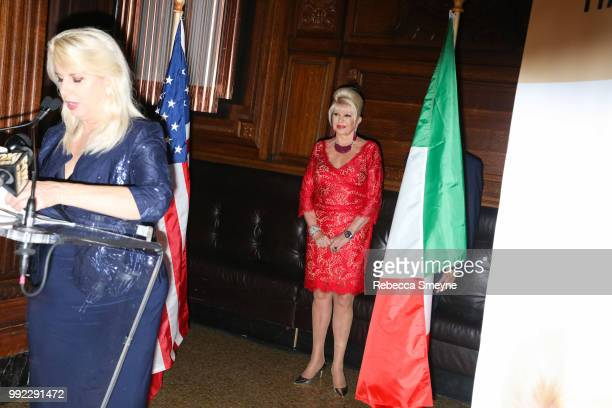 Rita Cosby and Ivana Trump attend the book launch and reception for Ivana Trump and Gianluca Mech's 'The Italiano Diet' at The Oak Room at the Plaza...