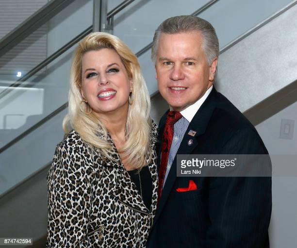 Rita Cosby and Tomaczek Bednarek attend the Blu Perfer Blue Brut Launch Party for The 2018 8th annual Better World Awards on November 15 2017 in New...