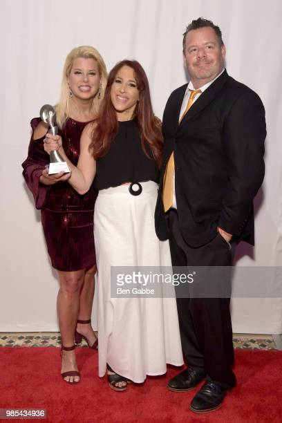 Rita Cosby Cooper Lawrence and Anthony Michaels attend The Gracies presented by the Alliance for Women in Media Foundation at Cipriani 42nd Street on...