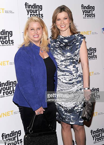 Rita Crosby and Jodi Applegate attend the Finding Your Roots New York premiere at Frederick P Rose Hall Jazz at Lincoln Center on March 19 2012 in...