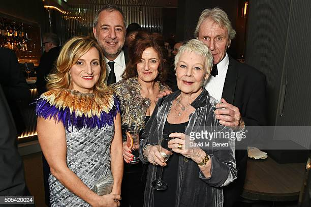 Rita Di Santo Rich Cline Hilary Oliver Dame Judi Dench and David Mills attend the after party following The London Critics' Circle Film Awards at The...