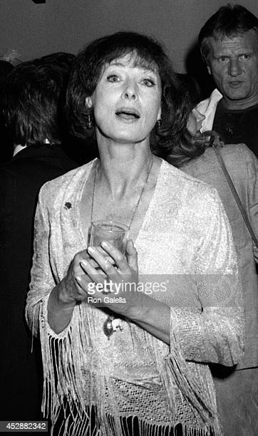 Rita Gam attends Left Boot Film Company Party on January 24 1981 at Laszlo Pappas home in Hollywood California