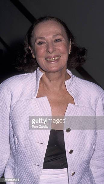 Rita Gam attends the performance party for 'Uncle Vanya' on May 8 2000 at the Brooks Atkins Theater in New York City