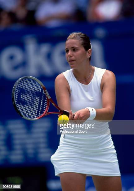 Rita Grande of Italy in action during the Australian Open Tennis Championships at Melbourne Park in Melbourne Australia circa January 2001