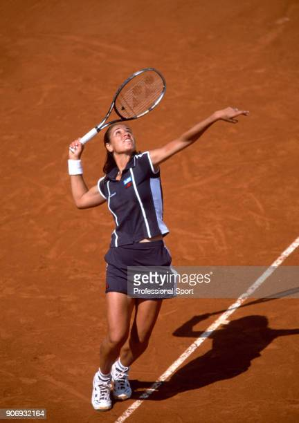 Rita Grande of Italy in action during the French Open Tennis Championships at the Stade Roland Garros circa May 2002 in Paris France