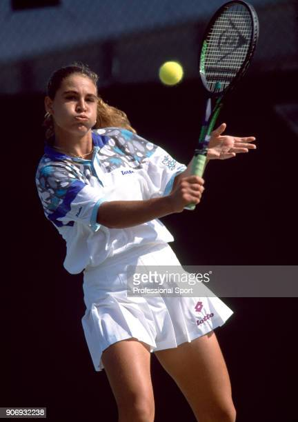 Rita Grande of Italy in action during the Lipton International Players Championships at the Tennis Center at Crandon Park in Key Biscayne Florida...