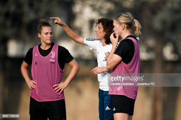 Rita Guarino during a Juventus Women training session on October 26 2017 in Turin Italy
