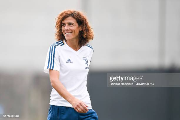 Rita Guarino during a Juventus Women training session on October 4 2017 in Turin Italy