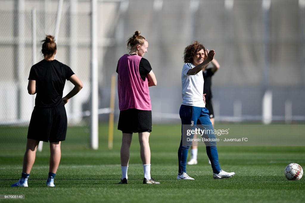 Rita Guarino during the Juventus Women first training session at Jtc in Continassa on April 16, 2018 in Turin, Italy.