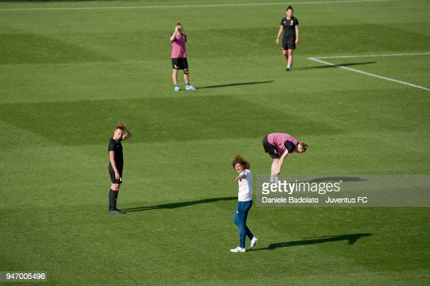 Rita Guarino during the Juventus Women first training session at Jtc in Continassa on April 16 2018 in Turin Italy