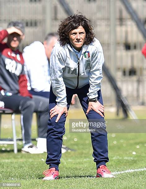 Rita Guarino head coach of Italy during the UEFA European Women's Under17 Championship Elite Round match between Italy and Finland at Stadio Bruno...